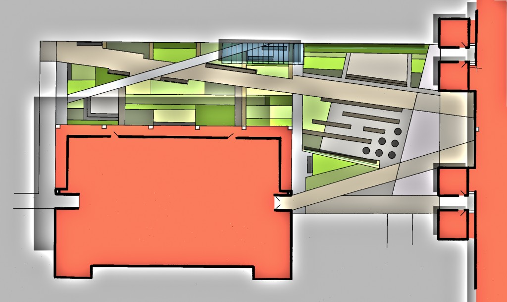 College of Brockport Allen Plaza Green Roof rendering