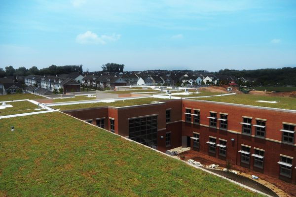 The green roofs in the Montgomery County School district span over 140,000 square feet.