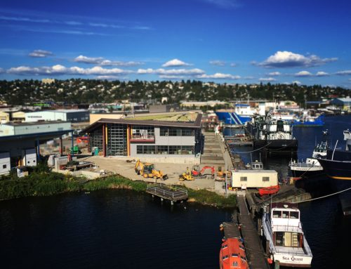LiveRoof® Curved Green Roof Tops Seattle Maritime Academy's New Building, Protects Water Quality