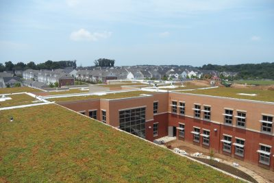 Green roofs at Montgomery County Public Schools in Maryland.