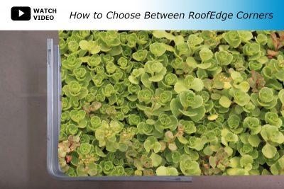 How to choose between base in and base out RoofEdge corners.