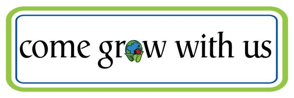 """Come Grow With Us"" Hortech logo."