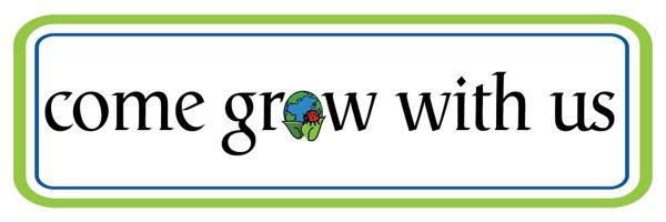 """Come Grow With Us"" Hortech logo."