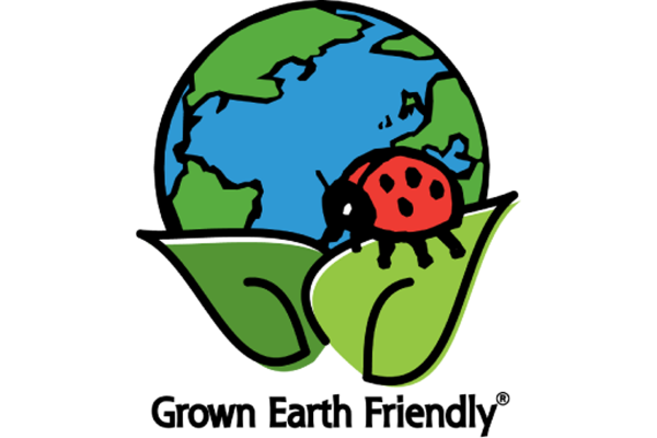The Hortech Grown Earth Friendly logo.