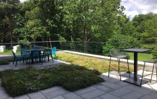RoofStone pavers on Hope College green roof patio