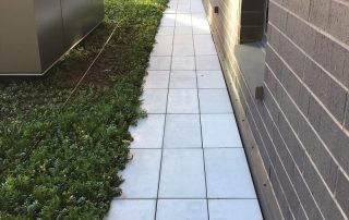 RoofStone paver walkway at Marquette University green roof