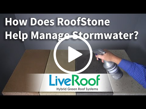 RoofStone Pavers - Video Demonstrating How They Aid in Stormwater Management
